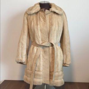 Vintage 60's Lilli Ann fur suede coat
